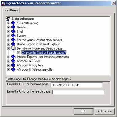 einstellungen internet explorer